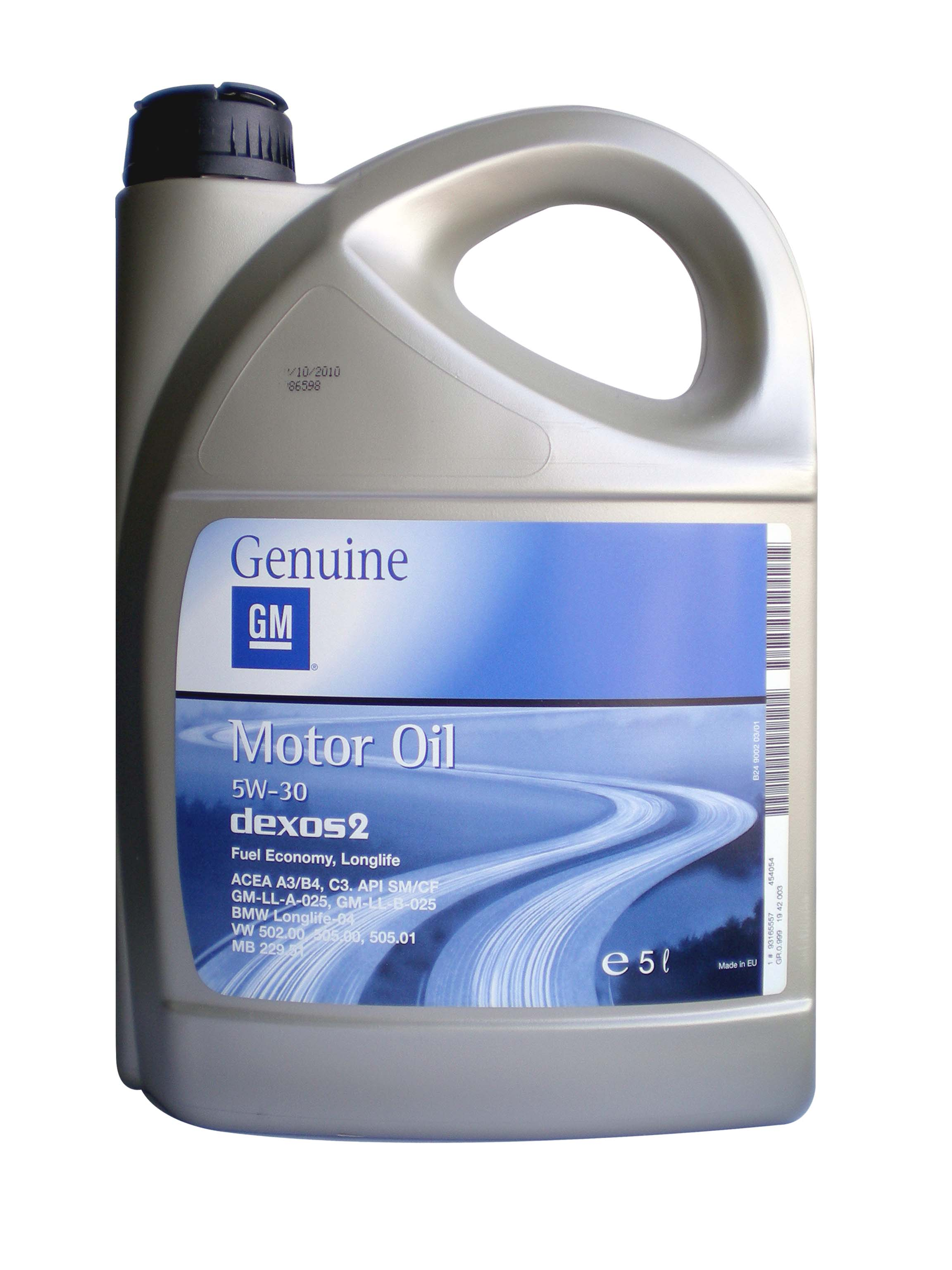 General Motors Motor Oil Dexos 2 93165557