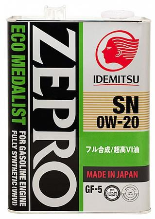 Zepro Eco Medalist 0W-20 SN/GF-5, Fully-Synthetic